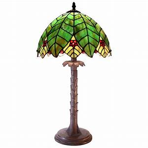 tiffany style palm tree shaped table lamp 224685 With tree floor lamp canada