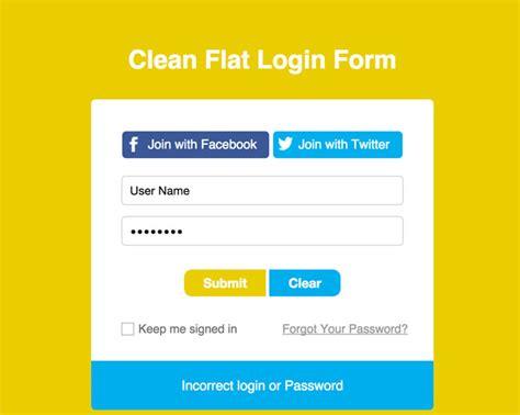Html Form Templates 30 Beautiful Html Css Login Registration Form Templates