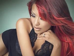 75 Epic Red Highlights On Black Brown Blonde Hair 2019