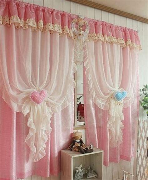 vorhang rosa kinderzimmer 30 gardinendekoration beispiele die fenster kreativ verkleiden