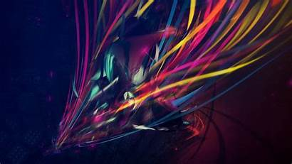 Abstract Colorful Lines Fantasy Artwork Wallpapers Glass