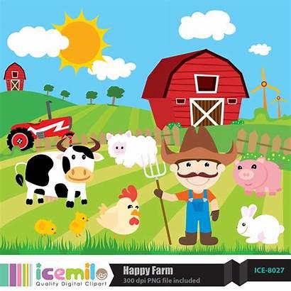 Farm Clipart Cliparts Clip Farming Ranch Related
