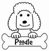 Poodle Coloring Pages Printable French Silhouette Outline Skirt Colouring Standard Getdrawings Silhouettes Designlooter Getcolorings Popular sketch template