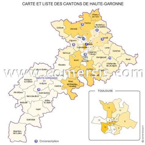 carte des anciens cantons de la haute garonne