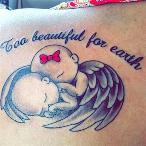 miscarriage baby twins tattoo twin babies  wings