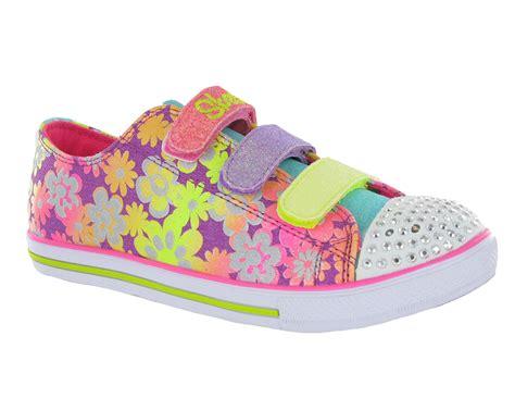 girls light up sandals new girls kids skechers memory foam twinkle toes light up