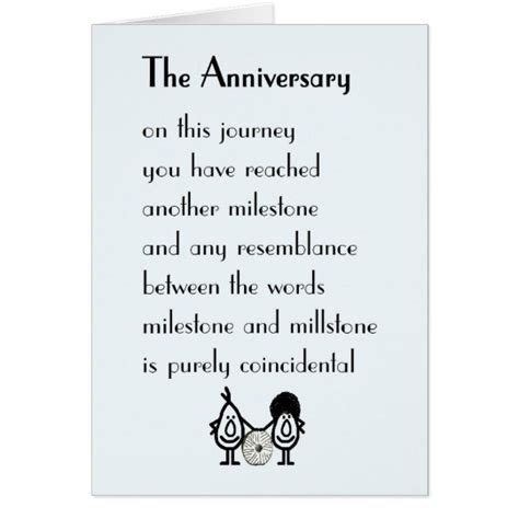 anniversary  funny wedding anniversary poem card