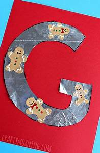 crafts letter crafts and gingerbread on pinterest With gingerbread letter ornaments