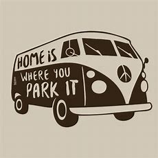 Home Is Where You Park It Tshirt Funny  Textual Tees