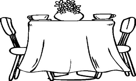Drawing Benches by Black Dining Table Set Dining Room Table Coloring Page