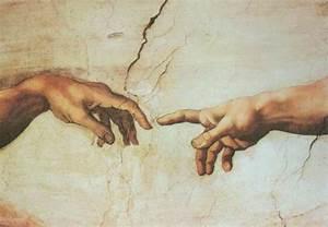 Creazione di Adamo , Creat Adam painting, aMichelangelo ...