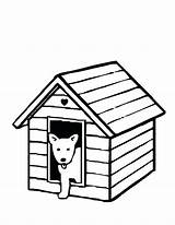 Dog Coloring Kennel Printable Drawing Bowl Getcolorings Colour Clipartmag sketch template
