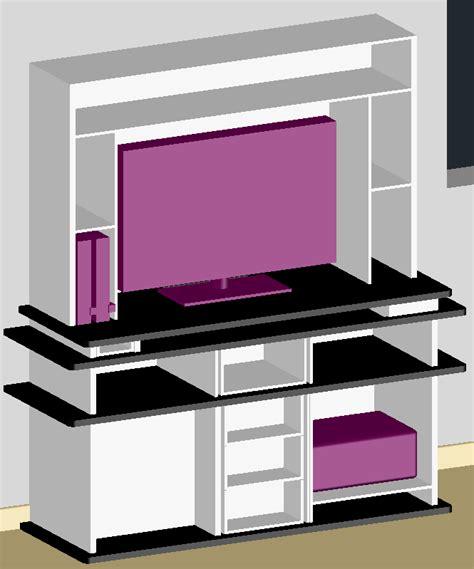fabriquer un meuble tv pc
