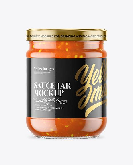 The entire library of our object mockups is at your disposal. Clear Glass Sweet & Sour Sauce Jar Mockup in Jar Mockups ...