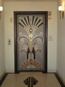 Art, Deco, Elevator, Doors
