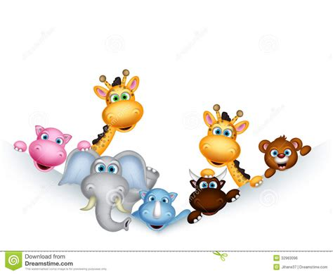 cute cartoon wild animal clipart clipground