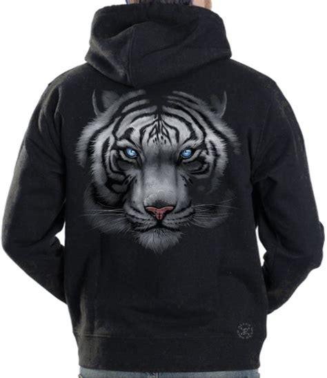 white tiger hoodie sweat shirt  alley wear
