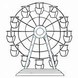 Ferris Wheel Draw Step Drawing Hold Legs Hub Central Together Bolts Really sketch template