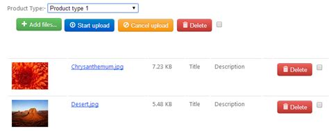 Filter Image As Per Product Type In File Upload Jquery