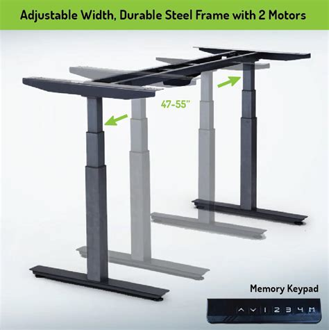 Motorized Standing Desk Frame by Rise Up Electric Adjustable Height Standing