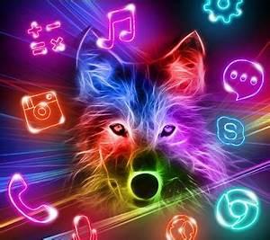3D Wild Neon Wolf Theme 1 1 1 APK