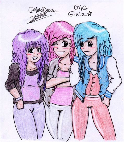 Omg Gurlz Carton Free Coloring Pages