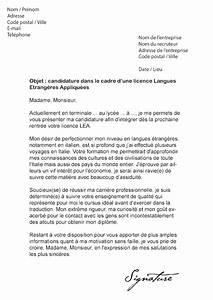modele lettre de motivation fac de droit Document Online