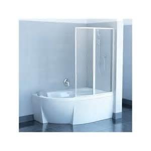 paroi de douche vsk2 pour baignoire asym 233 trique rosa