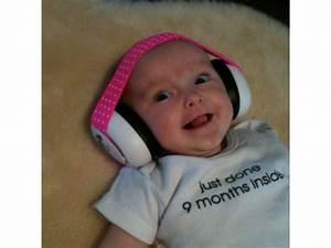 Casque Bébé Anti Bruit : casque antibruit pour b b s blanc avec bandeau rose blanc ~ Melissatoandfro.com Idées de Décoration