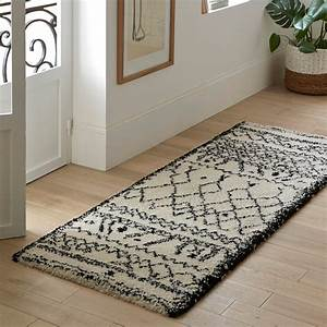 afaw runner rug black white la redoute interieurs With tapis de yoga avec canape 4