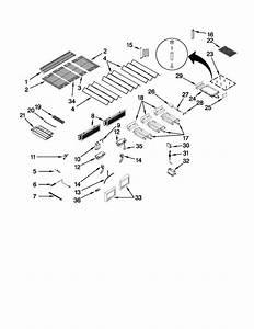 Burners  Grates  And Lights Parts Diagram  U0026 Parts List For