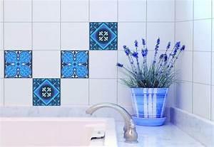 Carreaux De Ciment Autocollant : stickers pour carrelage mural carreaux ciment de plage ~ Premium-room.com Idées de Décoration