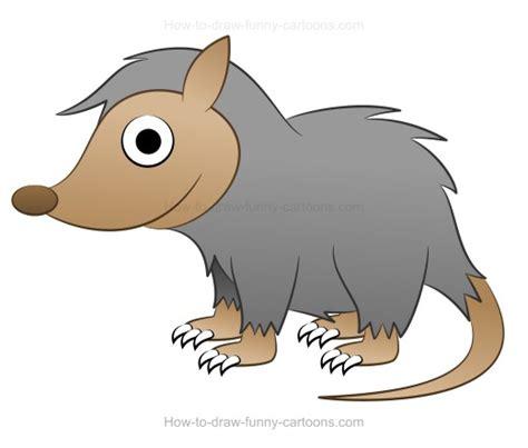 draw  cartoon possum
