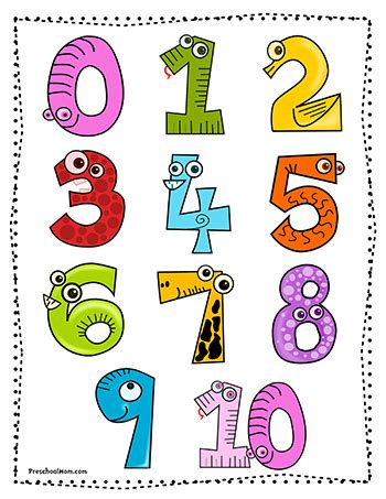 numbers for preschool number preschool printables 663