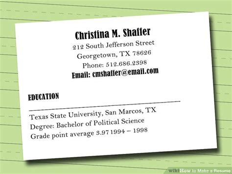 Step By Step Resume Maker by 7 Ways To Make A Resume Wikihow