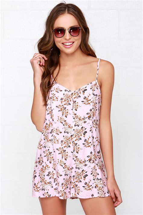 light pink romper mink pink floral romper light pink romper sleeveless