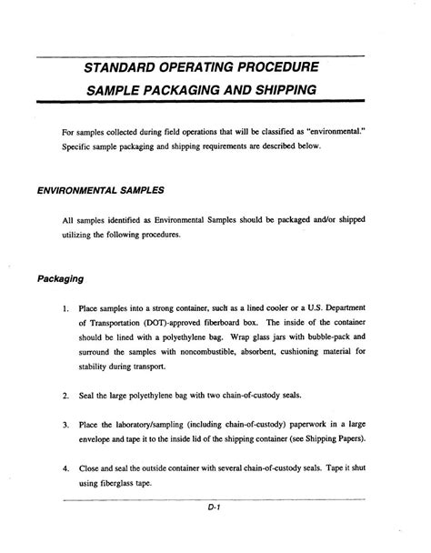How to write a standard operating procedure