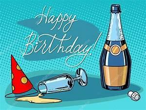 Image Champagne Anniversaire : groupe de joyeux anniversaire champagne image vectorielle studiostoks 96491456 ~ Medecine-chirurgie-esthetiques.com Avis de Voitures