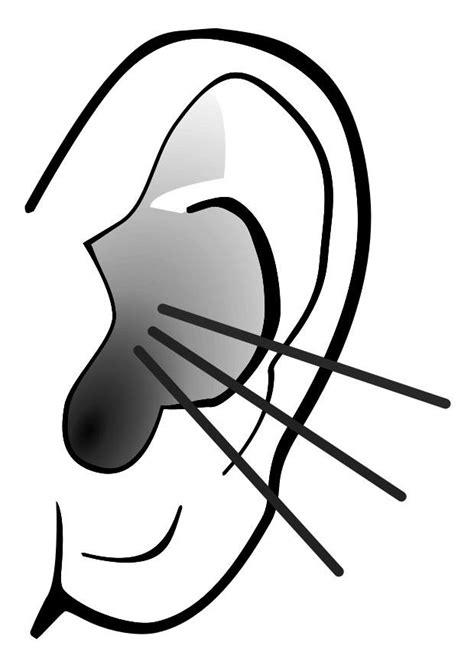 kleurplaat oor geluid afb