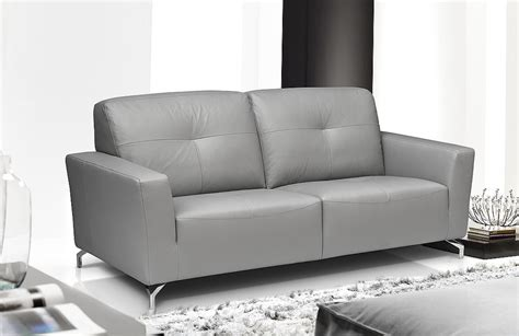 Grey Leather Settee by Light Grey Leather Sofa Euphoria U8141 Gr Light Grey