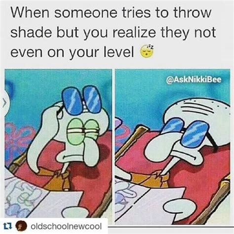 Shade Memes - when someone tries to throw shade but you realize they not even on your level