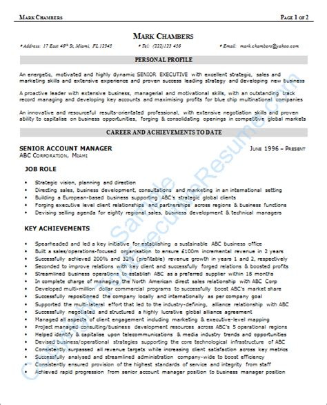 exle of resume format