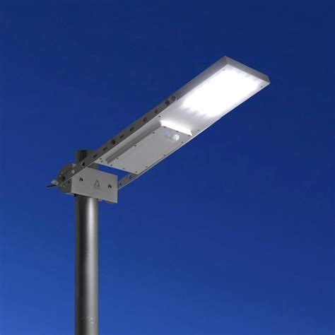 alpha  outdoor motion sensor solar powered led pole