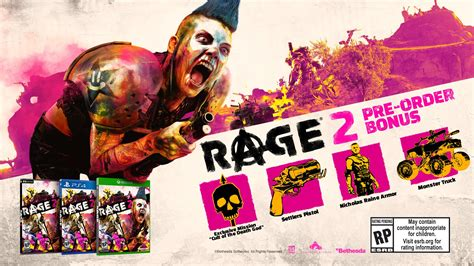 Rage 2 Pre-order Bonus Revealed; Game To Be Powered By