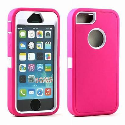 Iphone 5s Case Pink Defender Screen Armor