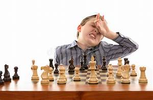 Chess - bad move stock photo. Image of pawn, player ...