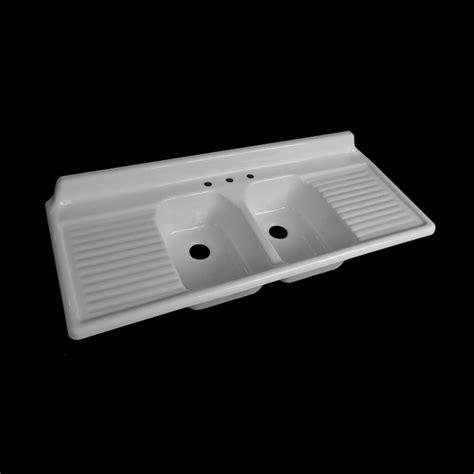 reproduction double basin drainboard sink model  ebay