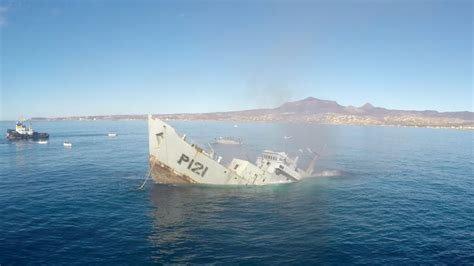 Boat Sinking Gopro by Gopro Awards Sinking A Mexican Navy Warship