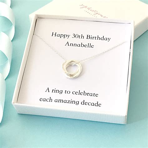 On march 3 february 21, 2018 Personalised 30th birthday necklace 30th birthday gift