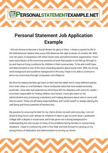 personal statement application exle
